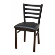 DHC Furniture Side Chair; Glossy Black