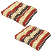 Plantation Patterns Majestic Outdoor Dining Chair Cushion (Set of 2)