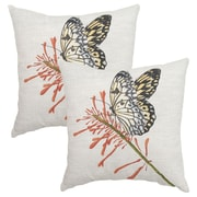 Plantation Patterns Butterfly Outdoor Throw Pillow (Set of 2)