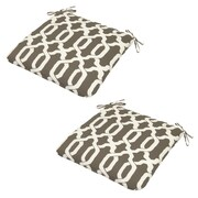 Plantation Patterns Ogee Outdoor Dining Chair Cushion (Set of 2); Taupe