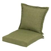 Plantation Patterns Deep Seating Chair Cushion; Green