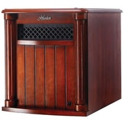 Hunter Home Comfort 1,500 Watt Portable Electric Infrared Cabinet Heater with Remote Control; Cherry