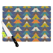 KESS InHouse Colorful Triangles Cutting Board; 15.75'' W x 11.5'' D
