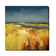 Artistic Home Gallery Sunlit Fields by Lisa Ridgers Painting Print on Wrapped Canvas