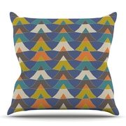 KESS InHouse Colorful Triangles Throw Pillow; 16'' H x 16'' W x 3'' D