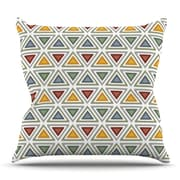KESS InHouse Ikat Triangles Throw Pillow; 16'' H x 16'' W x 3'' D
