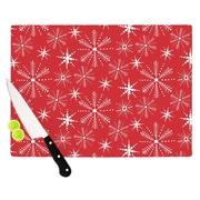 KESS InHouse Snowflake Cutting Board; 11.5'' W x 8.25'' D