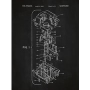 Inked and Screened Cherry Key Cap Blueprint Graphic Art Poster in Chalkboard/White Ink