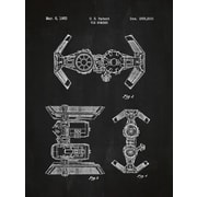 Inked and Screened Star Wars Tie Bomber Blueprint Graphic Art