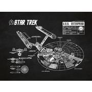 Inked and Screened Star Trek Blueprint Graphic Art