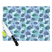 KESS InHouse My Colorful Fishes Cutting Board; 15.75'' W x 11.5'' D