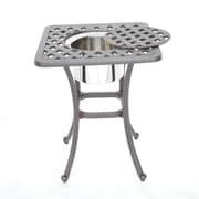 K B Patio Newport Side Table w/ Ice Bucket