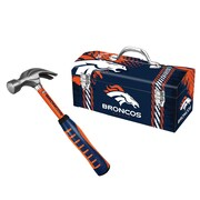 "Sainty 08310 Broncos 16oz Steel Hammer And Sainty 79-310 Broncos 16"" Tool Box"
