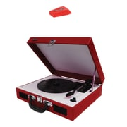Jensen Portable 3-spd Stereo Turntables With Speakers (red) & Needle 222ndl