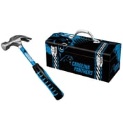 "Sainty 08305 Panthers 16oz Steel Hammer And Sainty 79-305 Panthers 16"" Tool Box"