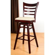 Benkel Seating 30'' Swivel Bar Stool with Cushion; Cherry