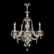 Worldwide Lighting Provence 7 Light Crystal Chandelier; Golden Teak