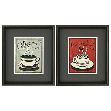 Propac Images Retro Coffee I/III 2 Piece Framed Vintage advertisement Set