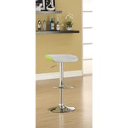 Hokku Designs Equipment Adjustable Height Swivel Bar Stool with Cushion (Set of 2); Green/White