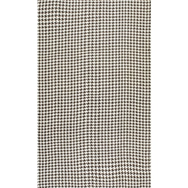 nuLOOM Natura Houndstooth Brown Area Rug; 5' x 8'