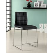 Hokku Designs Narbo 24.5'' Bar Stool with Cushion (Set of 2); Black
