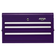 Viper Tool Storage 26''W 3-Drawer Top Chest; Purple
