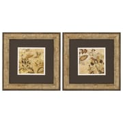Propac Images Floral Beige I & II Framed Canvas Art (Set of 2)