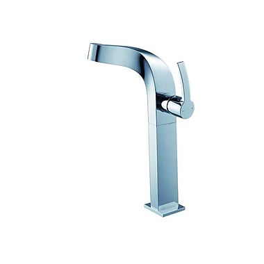 Kraus Typhon Single Hole Bathroom Faucet w/ Lever Handle; Without Pop Up Drain