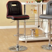 Hokku Designs Adjustable Height Swivel Bar Stool; Black