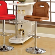 Hokku Designs Adjustable Height Swivel Bar Stool; Camel