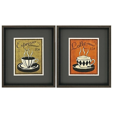 Propac Images Retro Coffee II/IV 2 Piece Framed Vintage advertisement Set