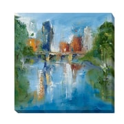 Artistic Home Gallery City Reflection II by Michele Gort Painting Print on Wrapped Canvas