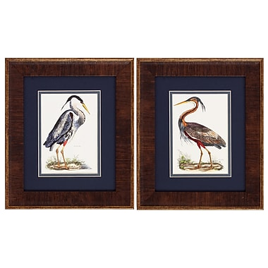 Propac Images Heron 2 Piece Framed Graphic Art Set
