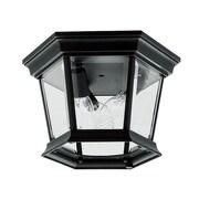 Livex Lighting Hamilton 3 Light Flush Mount; Black
