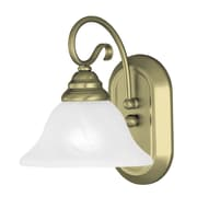 Livex Lighting Coronado 1 Light Wall Sconce; Antique Brass