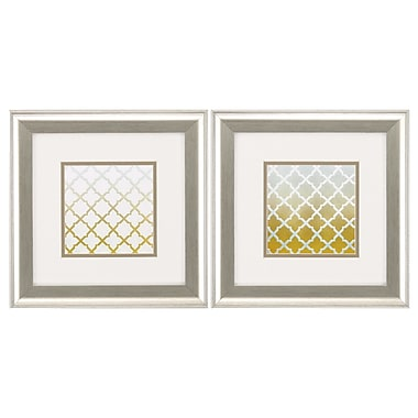 Propac Images Lattice 2 Piece Framed Graphic Art Set