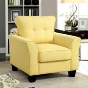 Hokku Designs Delila Linen Arm Chair; Yellow