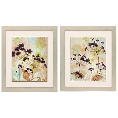 Propac Images Plum Silhouette 2 Piece Framed Graphic Art Set