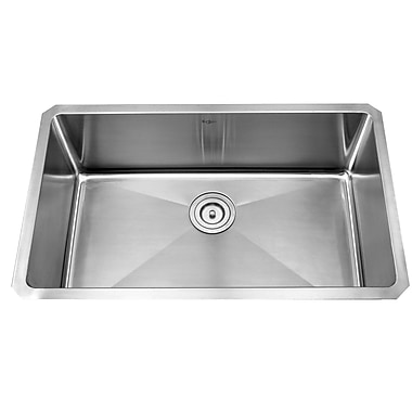Kraus 30'' x 18'' Undermount Single Bowl Kitchen Sink w/ Faucet and Soap Dispenser II; Satin Nickel