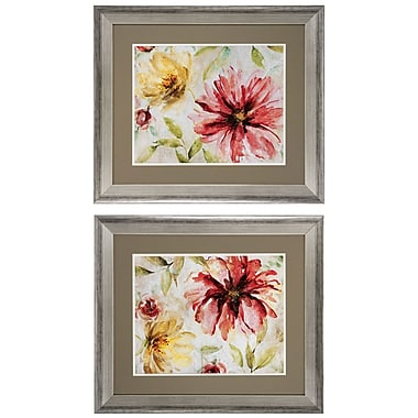 Propac Images Floral 2 Piece Framed Painting Print Set