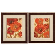Propac Images Scripted Beauty 2 Piece Framed Wall Art Set in Red
