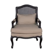 Jeffan Lysse Teak Arm Chair; Black