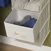 Household Essentials Storage and Organization Drawer for Six Shelf Organizer in Natural (Set of 2)