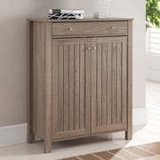 Hokku Designs Tallen 2 Door Storage Cabinet; Light Oak