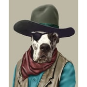Empire Art Direct Pets Rock  ''Cowboy'' Graphic Art on Wrapped Canvas