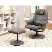 Hokku Designs Klaus Wingback Chair & Ottoman; Gray