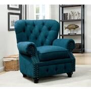 Hokku Designs Cedric Tufted Arm Chair; Teal