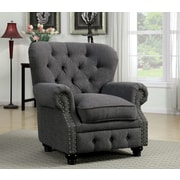 Hokku Designs Cedric Tufted Arm Chair; Gray
