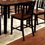 Hokku Designs Carolina 22.75'' Bar Stool (Set of 2); Black
