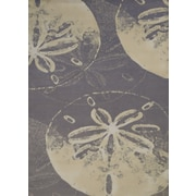 Panama Jack Island Breeze Sand Dollar Cove Charcoal Area Rug; 2'7'' x 3'11''
